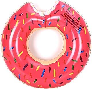 大人用スイムリング ドーナツ 浮き輪 厚くしたPVC プール、海、川、ビーチ 夏祭り 夏休み 夏の日 かわいい 撮影道具 水泳用品 #120(ピンク) [並行輸入品]