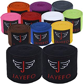 Jayefo Sports Hand Wraps 180 Inches Inner Boxing Gloves Martial Arts Wraps for Men & Women Boxing MMA Kickboxing Muay Thai...