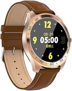 GWX Reloj Inteligente, Gimnasio Sports Tracker Bluetooth Pulsera Redondo Impermeable Completamente Táctil De La Frecuencia Cardíaca Podómetro Android iOS Universales,Oro