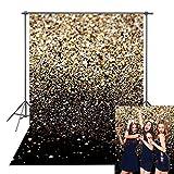 Daniu Gold Glitter Sequin Spot Backdrops Starry Sky Shining Astract Photo Background Graduation Prom Party Wedding Children Newborn Photography Studio Props