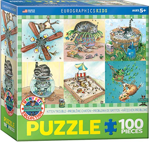EuroGraphics 6100-5483 Kitten Trouble by Gary Patterson 100Piece Puzzle