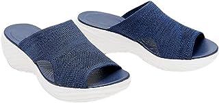 Watkings Gebreide wig corrigerende sandalen? Mode Sport Mesh Bovenste Vrouwen Zomer Strandschoenen Ademend
