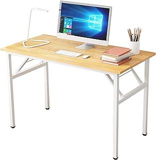 DlandHome Bureau Table Pliant Informatique d'ordinateur 120 * 60cm Postes de Travail Table d'étude/d'écriture/à Manger pou...