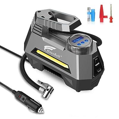 HAUSBELL Portable air Compressor for Car Tires,...