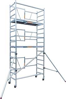 Andamio plegable en aluminio profesional IBERANDAMIOS altura de trabajo 5,70 m