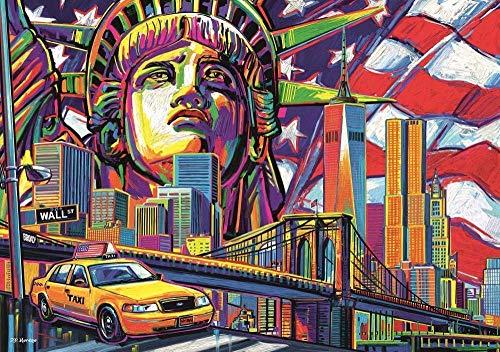 HDGREF Rompecabezas Adultos 1000 Piezas New York s Color Puzzle Rompecabezas para Niños, Juguete De Regalo Ideal, La Mejor Decoración para El Hogar De Bricolaje