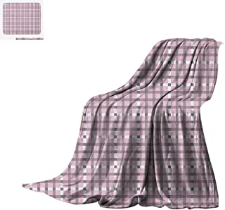 Luoiaax Geometric Warm Microfiber All Season Blanket Scottish Tartan Pattern Intertwined Lines Traditional European Design Summer Quilt Comforter 60