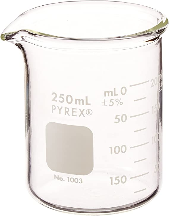 SUPERLELE 8pcs Glass Graduated Beaker Set 25/50/100/200/250/400/500/1000ml