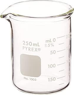 Pyrex 1003-250CN Heavy Duty Griffin 1003 250mL Beaker Double Scale Grad, Glass