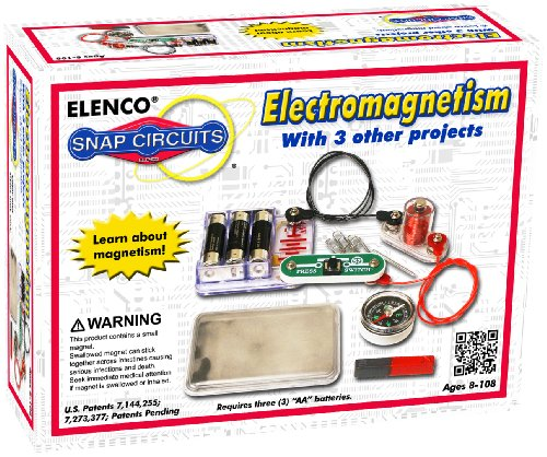 Snap Circuits Electromagnetism Exploration Kit | 4 Electromagnetic Projects | 4Color Project Manual | Lots of STEM Fun