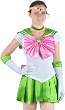CoolChange Traje Cosplay de Sailor Jupiter de la Serie Sailor Moon, Talla: L