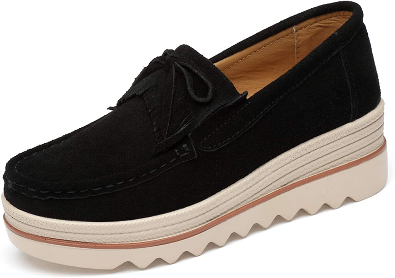 YLX0518 Womens Platform Flats Walking shoes Ladies Fashion Casual Boat Loafers