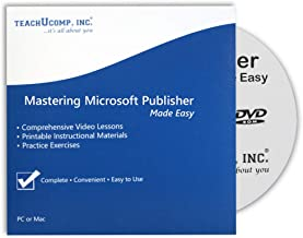 Learn Microsoft Publisher 2019 and 365 Video Training Tutorial DVD-ROM Course