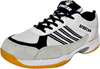Spartan PRO-X White Black Badminton Shoes