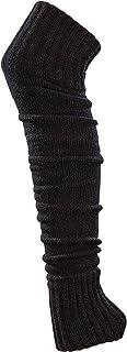 krautwear, Medias calentadoras de piernas para mujer y niña, aprox. 70 cm, certificado Öko-Tex Standard 100, años 80, 1980, color negro, beige, rojo, blanco, gris, marrón