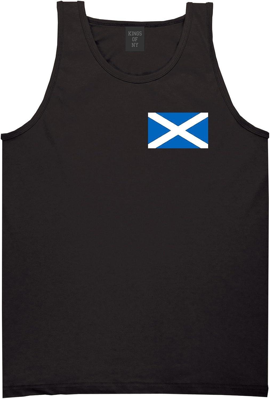 Kings Kings Kings Of NY Scotland Flag Country Chest Mens Tank Top Shirt efa4df