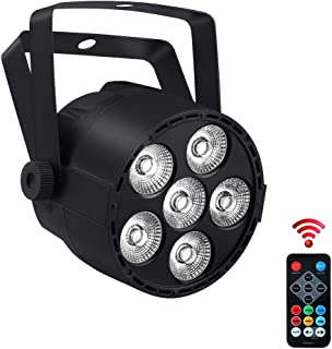 Par Lighting for Stage Lights, YeeSite 24W 6LEDs RGBW 4 in 1 Par Can by Remote and DMX Control for Church Wedding Stage Lighting Halloween Christmas Birthday Party