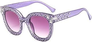 MAOLEN Oversized Sunglasses for Women Square Thick Frame...