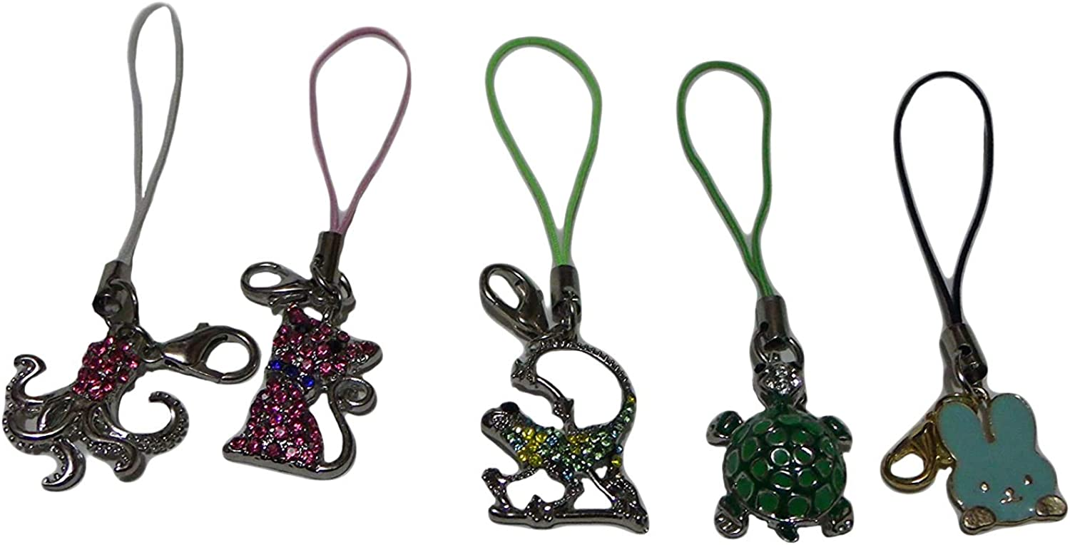 Time sale Cell Phone Zipper Pull Decorations Charms Cat ~ Octopus Lizzar Cheap sale
