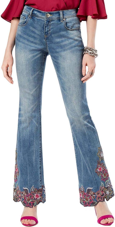 INC Womens Denim Curvy Fit Boot Cut Jeans bluee 4
