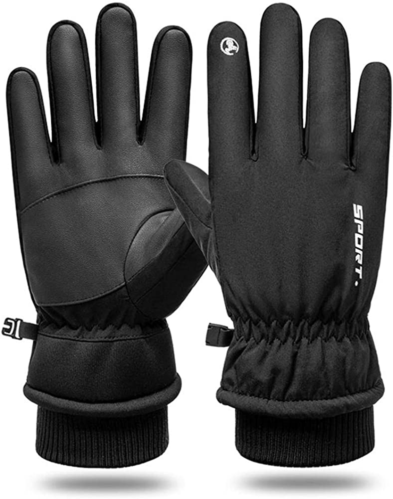 GUIFIER Winter Gloves -30°F Cold Proof Leather Touchscreen Glove Water-Resistant Snow Work