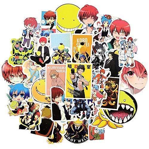 RUIRUI Anime Stickers Scrapbooking Assassination Classroom Stickers Scrapbook Waterproof Sticker For Laptop Suitcase Fridge Phone 50Pcs