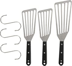 Hedume Set of 3 Fish Spatula, Stainless Steel Slotted Turner, Sturdy Riveted Handle, Dishwasher Safe, Kitchen Metal Spatul...