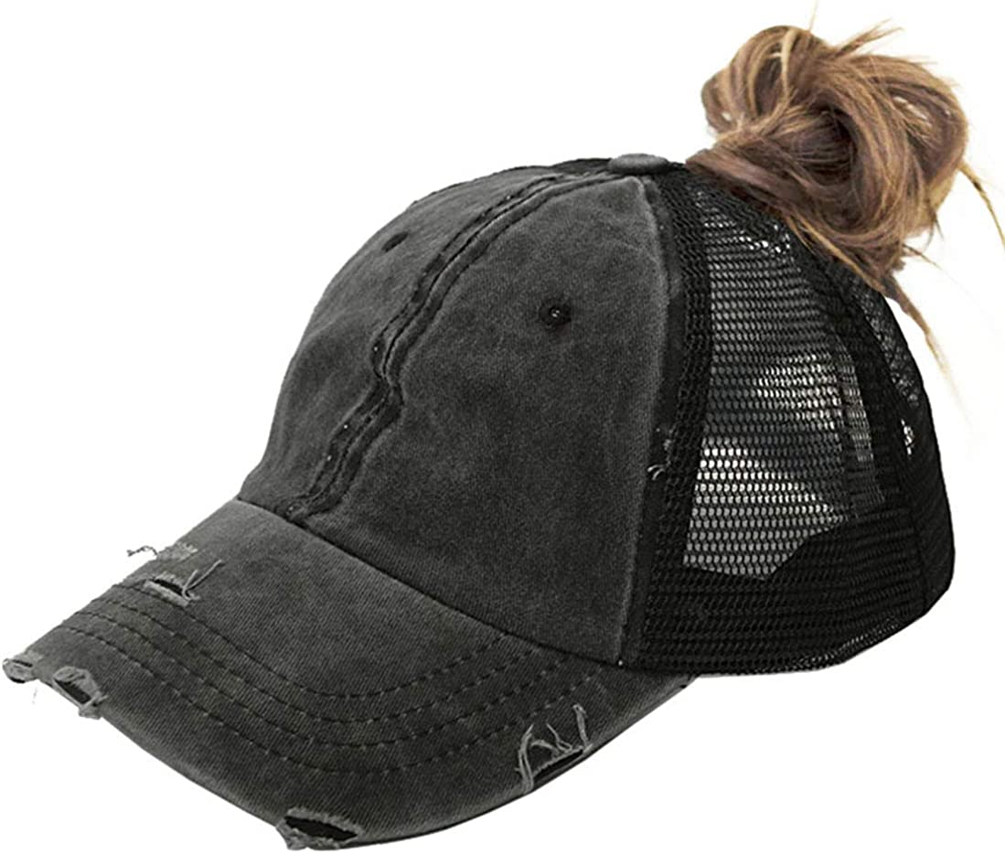 High All items free shipping Ponytail Max 74% OFF Baseball Hat - Sun Messy Women Bun Protection