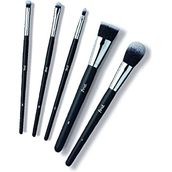 FIND - Set di base - Pennelli per piega dell'occhio, sfumatura di precisione, labbra, fondotinta e fard (5 pennelli) - n° 04, n° 06, n° 07, n° 08, n° 11