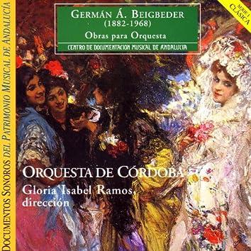 German A. Beigbeder:  Obras para Orquestra - Orquesta de Cordoba - Gloria Isabel Ramos