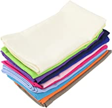 INFEI Soft Solid Color Linen Cotton Dinner Cloth Napkins - Set of 12 (40 x 40 cm) - for Events & Home Use (Multicolored)