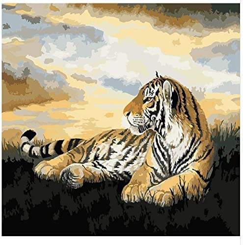 NDSLJSLYH Bricolage Peinture Numérique Tigre Abstrait B, 80X100Cm Cadeau De Peinture à l'huile De étudiant Débutant pour Enfants Adultes Peindre Kits Home Decor