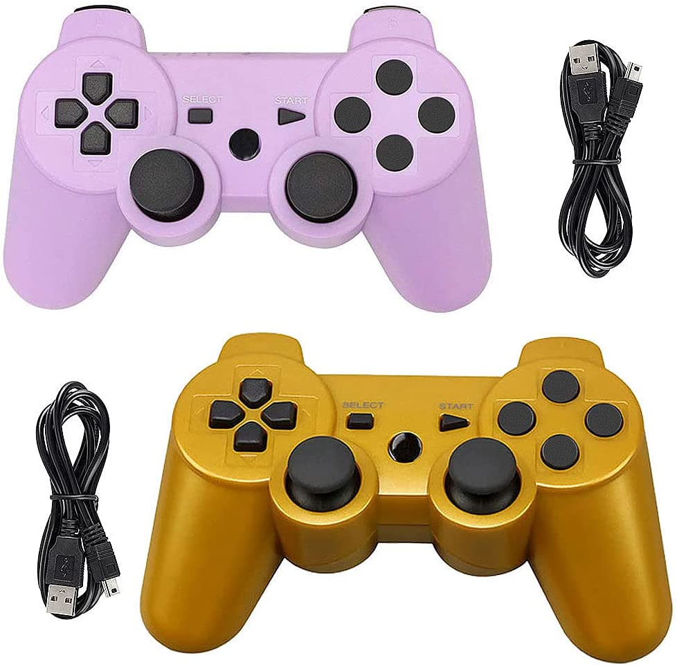 Tidoom PS3 Controller 2 Pack Dealing full price Limited time for free shipping reduction Bluetooth C Wireless Gamepad 6-Axis