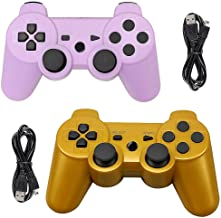 $38 » Tidoom PS3 Controller 2 Pack Wireless Bluetooth 6-Axis Gamepad Controllers Compatible for Playstation 3 Controller PS3 Wir...