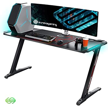 Escritorio ergonómico Eureka para juegos Z60, escritorio para juegos de ordenador, escritorio para juegos: Amazon.es: Hogar