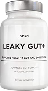Amen Leaky Gut Supplements - Advanced Formula with Bioavailable L Glutamine, Zinc, Turmeric, Licorice Root - Bowel and Sto...