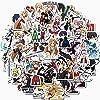 50枚漫画ソードアートオンライン防水ステッカースーツケース自転車ヘルメットファッションステッカーセット自転車車スケートボードステッカーヘルメットPCスマートフォンタブレットカメラステッカーかわいいマニュアルステッカー携帯ケース魔法瓶カップノートブックステッカー