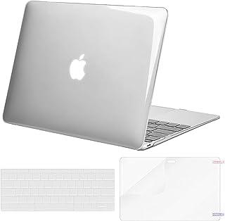 MOSISO Funda Dura Compatible con MacBook 12 Pulgadas Retina A1534 (Versión 2017/2016/2015), Plástico Carcasa Rígida&Cubierta de Teclado (USA Versión)&Protector de Pantalla, Cristal