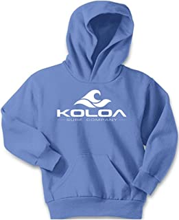Koloa Wave Logo Youth Hoodies-Pullover Hooded Sweatshirts in 24 Colors