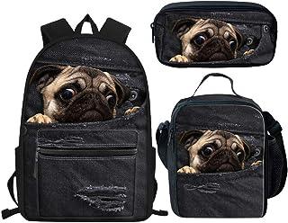 Juego de mochila para niños con estuche 3 en 1, diseño de animales