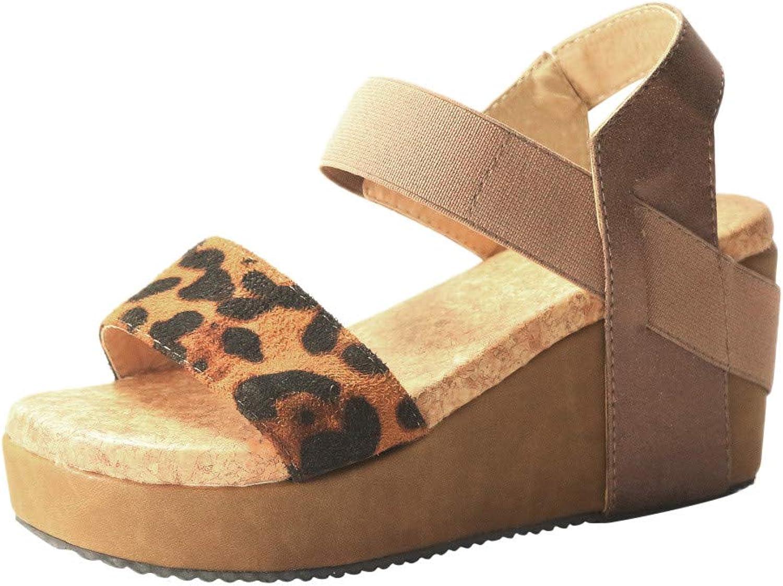 Fanteecy shoes Women's Wedge Sandals Open Toe Strappy Wedge  Summer Vegan Leather Platform Sandal  Low Heeled Sandals