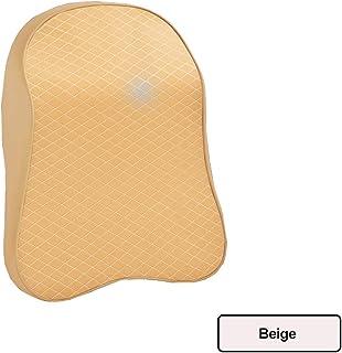 VSLIFE Almohada de Cuello de Coche Ajustable Cabeza de reposacabezas Memoria 3D Espuma Auto Reposabezas Viaje Almohada Cuello Soporte de Soporte Cubiertas de Asiento (Color : Beige)