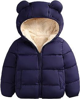 Ommda Chłopiec dziewczęta Puffer wyściełany bluza z kapturem płaszcz z podszewką polarową odzież wierzchnia dziecięca kurt...