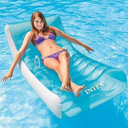 Svvsgf aufblasbarer Schwimmer, aufblasbare Wassersofa-Liege Wasser schwimmende Bettliege aufblasbare Hängematte PVC aufblasbare schwimmende Reihe