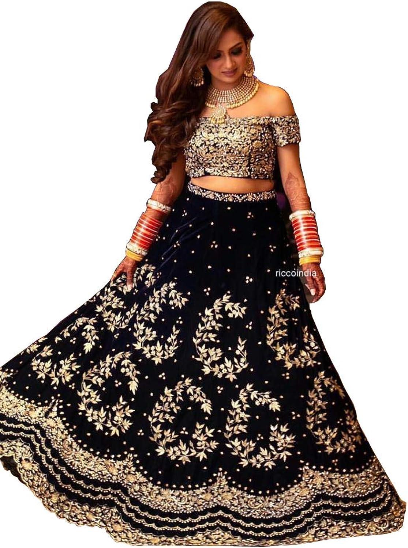 Designer heavy bridal wedding velvet lehenga choli party wear dream exporter1205