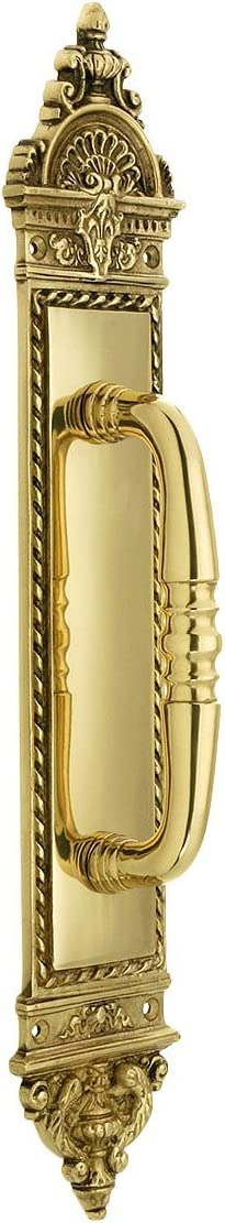 Blois Pattern Door 2021 excellence spring and summer new Pull in Unlacquered Brass