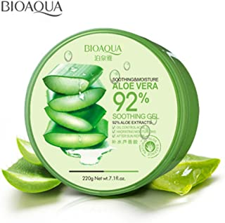 BIOAQUA 92% Aloe Vera Extracts Hydrating Acne Spot Removing Face Night Cream Replenishiment Soothing Long-lasting Gel 220g