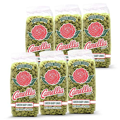 Camellia Brand Dry Green Baby Lima Beans, 1 Pound (Pack of 6)