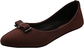 StepIndia Stunning Pair of Synthetic Bow Front Ballet Bellies for Women and Girls