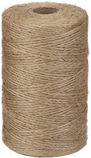 Vivifying 656 Feet Natural Jute Twine, Biodegradable 2Ply Garden Twine for Photos, Gifts, Crafts (Brown)